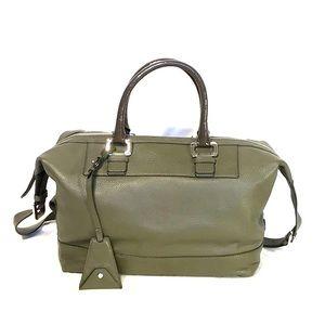 Diane Von Furstenberg Olive Leather Satchel